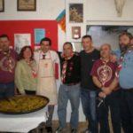 Comida hermandad Scout  Internacional…, con asistentes a las jornadas universitarias y el director de recursos adultos del Bureau Mundial Scout…